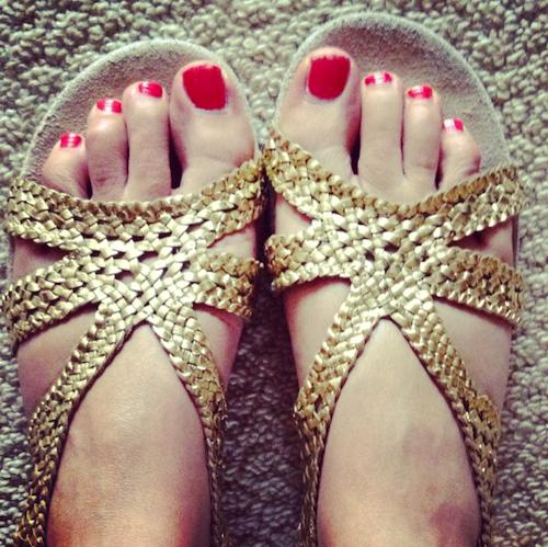 topshop flat gold sandals