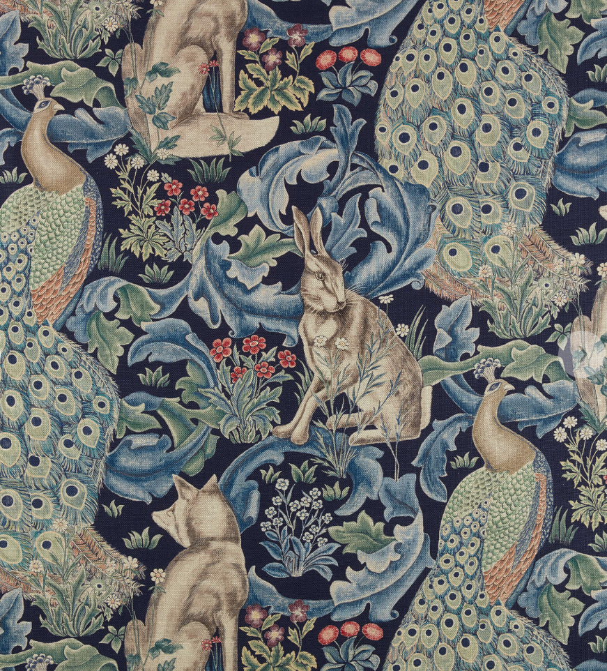 morris and co forest fabric