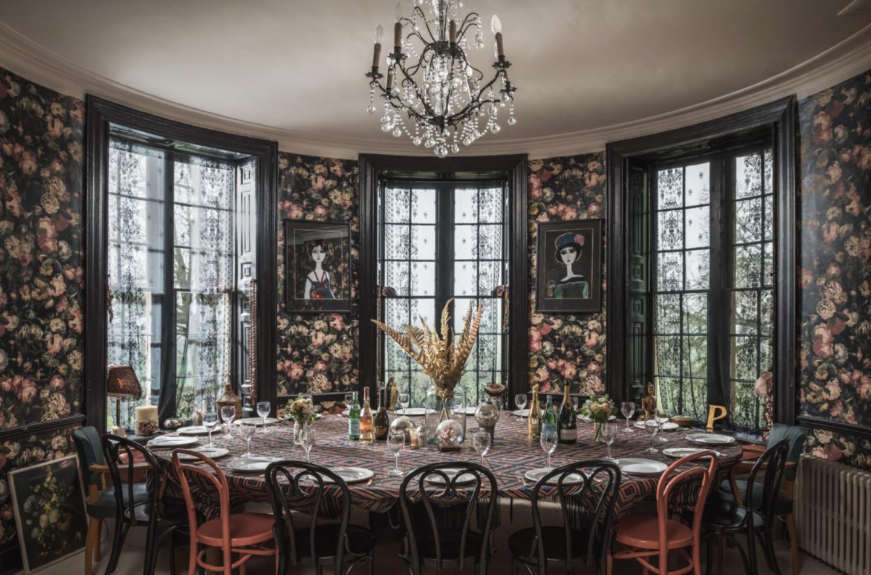pearl lowe dining room wallpaper
