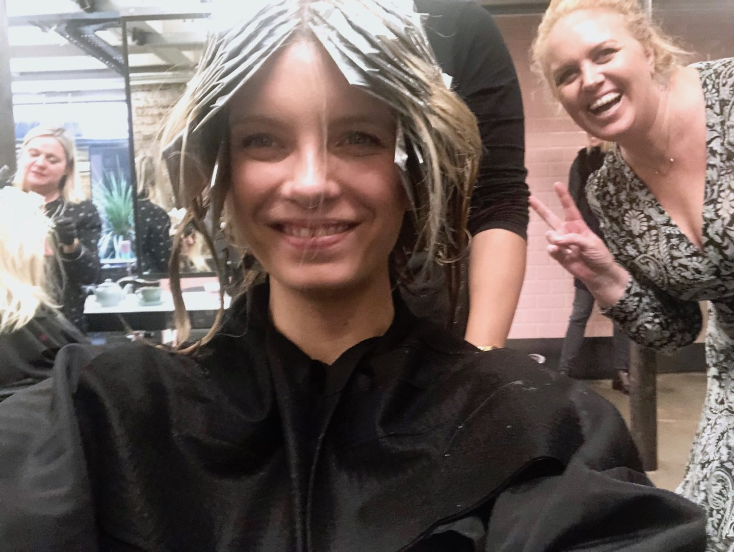 ruth crilly hair change blonde
