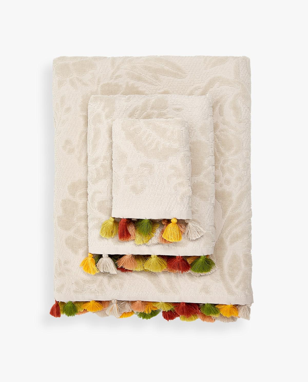 zara tassel trim towel