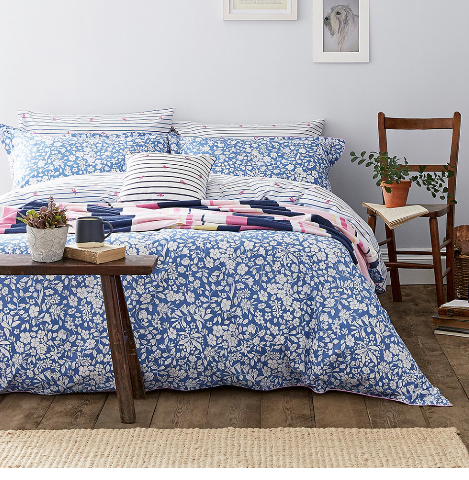 joules ditsy print linen